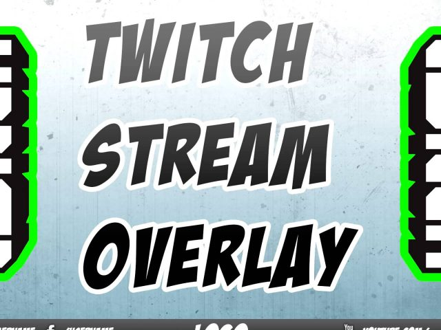 Twitch TV Stream Overlay Template // #1 // [FREE DOWNLOAD] [PSD]