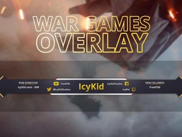 Free Twitch Overlay Template – Stream War Games Overlay – PSD – Free Download