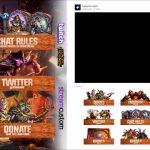 Hearthstone Stream Banner Pack #1 para Twitch [STREAMCUSTOM]