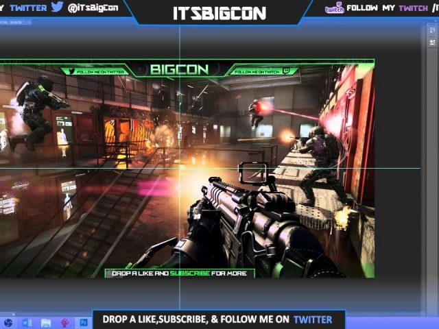 FREE Twitch Stream Overlay Template!!!(PSD File)