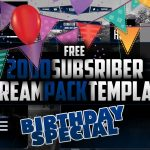 2K free Stream Pack Template Special | Birthday special | Seangraphicx