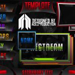 GFX Template: Ultimate Twitch Live Stream Template Pack V1 – Photoshop Template
