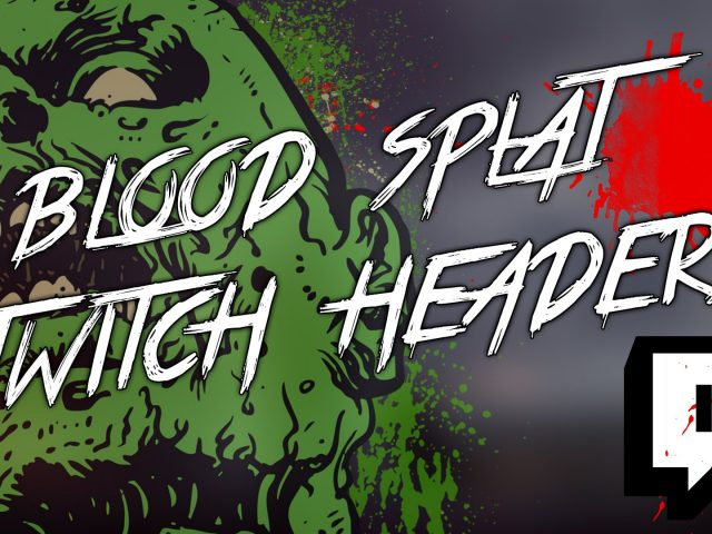 Blood Splat – Free Twitch Header Pack!
