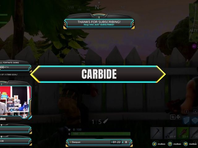 "Free Fortnite Overlay ""Carbide"" now available on Player.me"