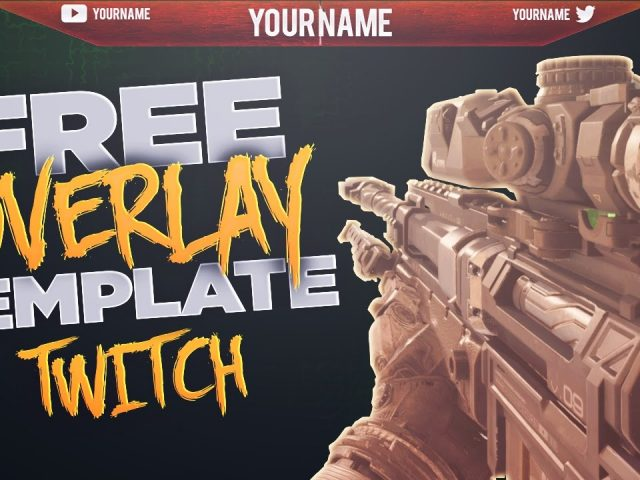 FREE ORANGE STREAMING OVERLAY. TWITCH + YOUTUBE DOWNLOAD IN DESC