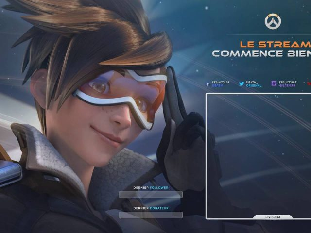 Animated Twitch overlay – Starting screen Overwatch