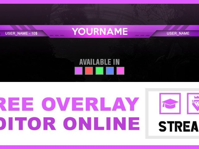 Stream Overlay – Smile | FREE (TUTORIAL – how to edit)