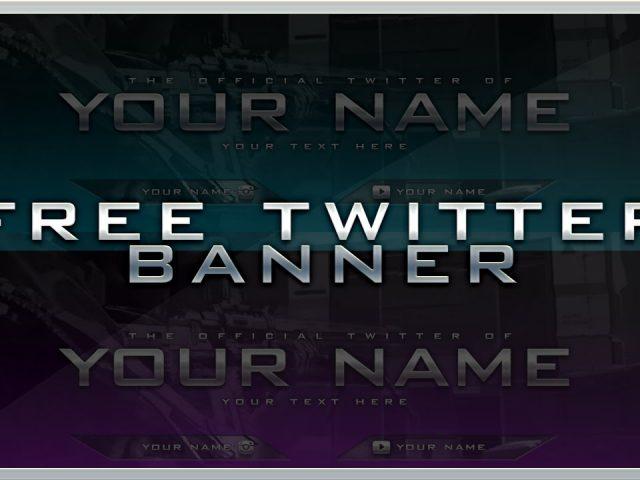 Free Twitter Header / Banner Template