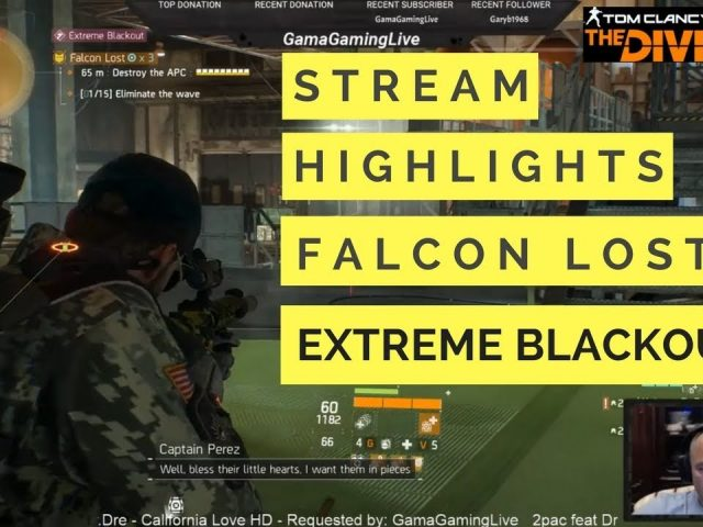 The Division Falcon Lost Extreme Blackout (Twitch Stream Highlights)!