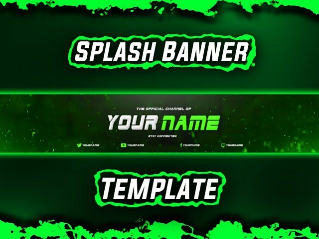 Splash Banner Template || Fully Editable (PSD File) by Graphics Arena