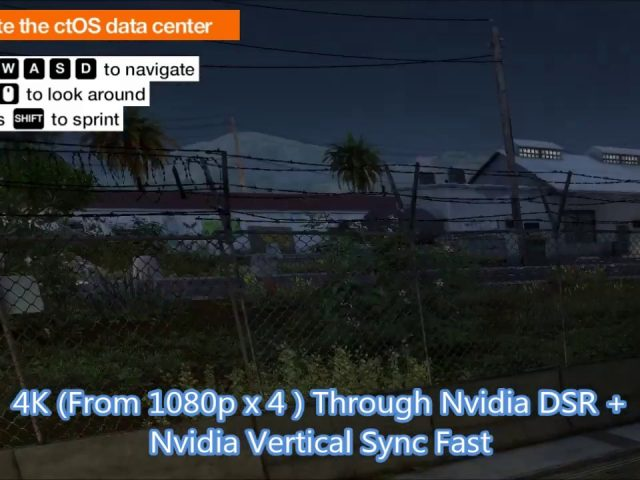 Nvidia Control Panel & In Game Settings For Watch Dogs 2 PC