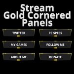 Free Twitch Panels - Gold Cornered - PSD - Free Download