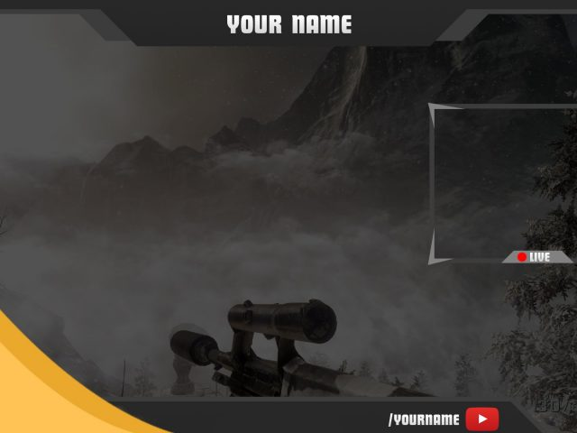 Twitch Overlay Template #9 – Free Photoshop Download