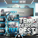 Photoshop Template – Ultimate Live Stream Overlay Template Pack – Destiny 2