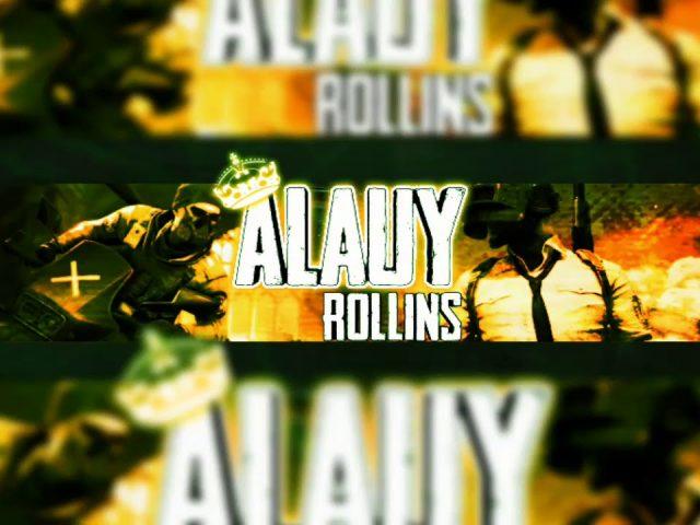 no speed art banner Alauy Rollins. pubg banner