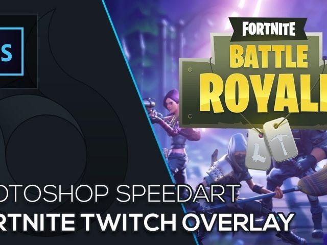 Fortnite Twitch Overlay | Photoshop Speedart | Free Download | German | Wildfire Graphics