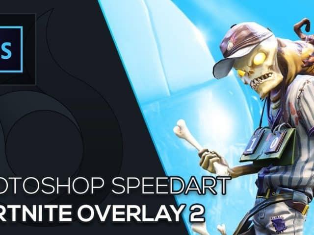Fortnite Twitch Overlay 2 | Photoshop Speedart | Free Download | German | Wildfire Graphics