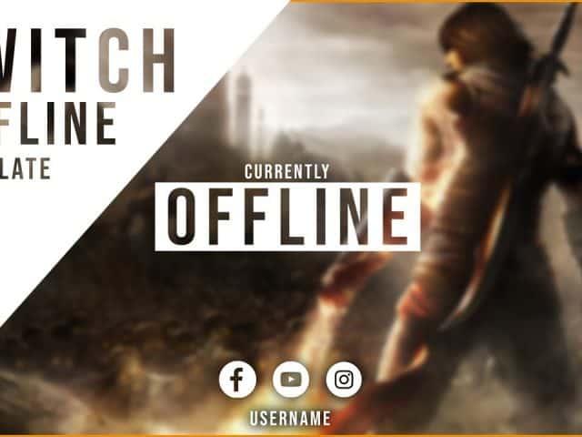 Free Twitch Offline Banner Template (PSD)