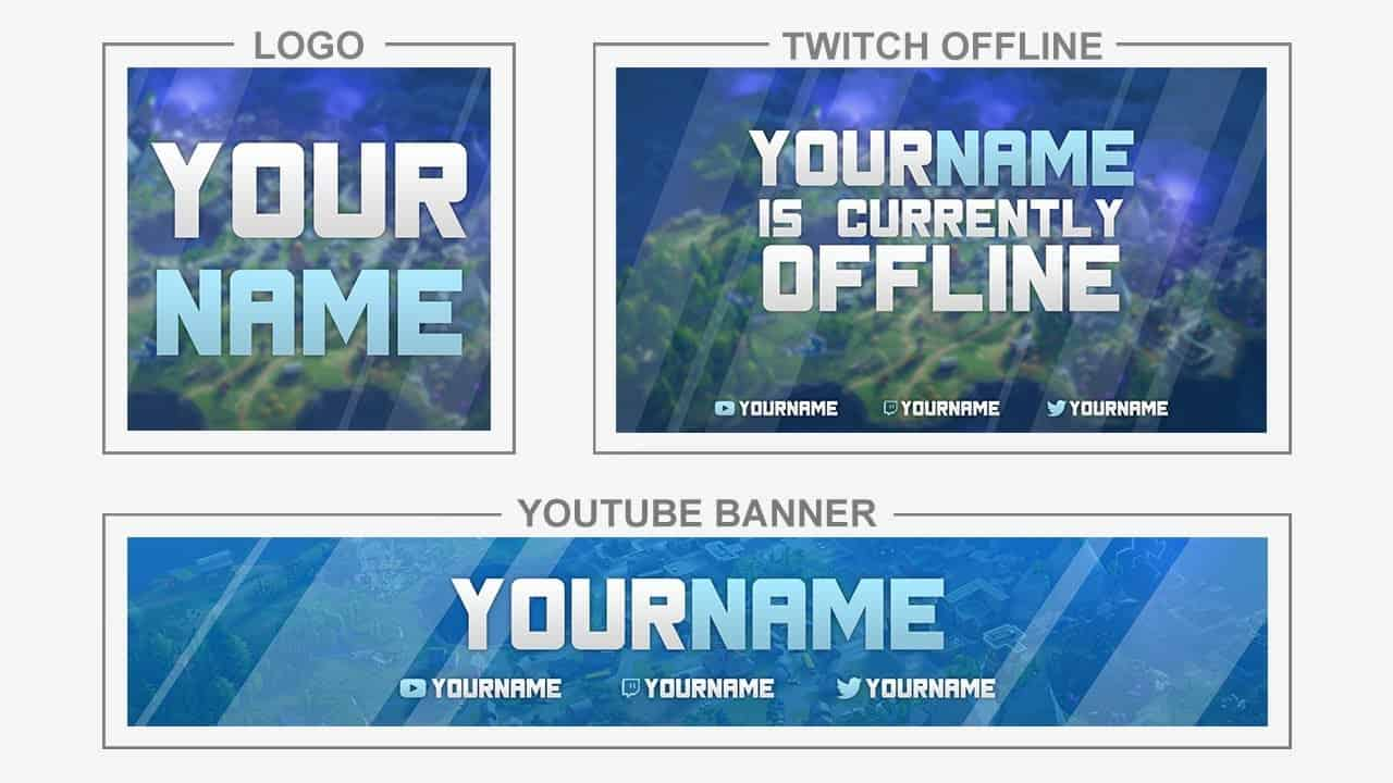 Offline Twitch Fortnite Fortnite Rebrand Youtube Banner Logo Twitch Offline Templates Tutorial How To Edit Twitchboard Free Twitch Overlays And Graphics
