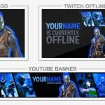 Fortnite Rebrand (Youtube Banner, Logo, Twitch Offline - Templates) + TUTORIAL (how to edit)