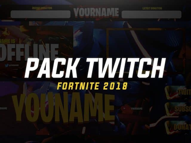 PACK FREE: ANIMATED  OVERLAY TWITCH , YOUTUBER & MIXER 2018  | OBS | BY @EMDZN