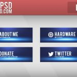 Free Twitch Panels - Blue Beam Panels - PSD - Free Download