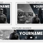 Rainbow Six Siege Rebrand (Youtube Banner, Logo, Twitch Offline - Templates) + TUTORIAL