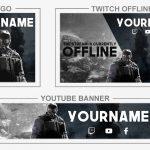 Rainbow Six Siege Rebrand (Youtube Banner, Logo, Twitch Offline – Templates) + TUTORIAL