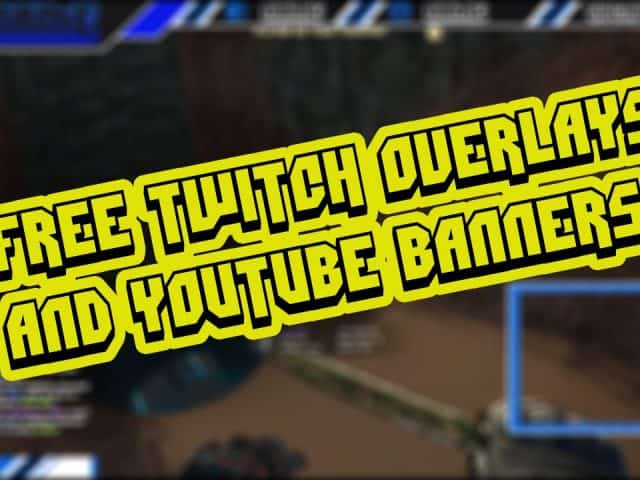 Free Twitch Overlays/YouTube Banners Templates Pack # 1