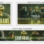 Rainbow Six Siege (Youtube Banner, Logo, Twitch Offline – Templates) + TUTORIAL (how to edit)