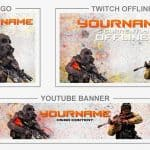 CS:GO Rebrand (Youtube Banner, Logo, Twitch Offline - Templates) + TUTORIAL (how to edit)