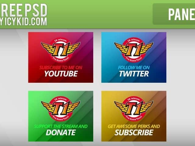 Free Twitch Panels – Faker Panels – PSD – Free Download