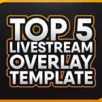 TOP 5 FREE LIVESTREAM OVERLAY + WEBCAM TEMPLATE 7! | Photoshop CC & CS6