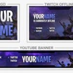 Fortnite (Youtube Banner, Logo, Twitch Offline - Templates) + TUTORIAL (how to edit)