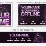 Fortnite Raven (Youtube Banner, Logo, Twitch Offline - Templates) + TUTORIAL (how to edit)