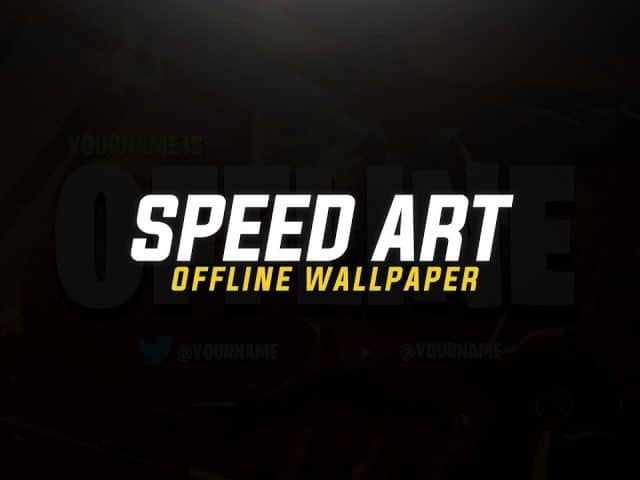 SPEED ART : TWITCH OR MIXER STREAMING OFFLINE WALLPAPER | 20 LIKES ? |  BY @EMDZN