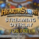 Free Hearthstone Twitch Streaming Overlay FullHD Template [+DOWNLOAD LINK] – by fyre Graphics