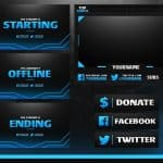 Free Amazing Full Livestream Overlay Template (Webcam,  Pannels, Endscreen etc.) + Tutorial