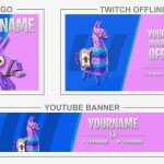Fortnite Llama (Youtube Banner, Logo, Twitch Offline - Templates) + TUTORIAL (how to edit)
