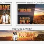 PUBG Rebrand (Youtube Banner, Logo, Twitch Offline - Templates) + TUTORIAL (how to edit)