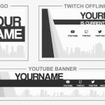 City Flat (Youtube Banner, Logo, Twitch Offline - Templates) + TUTORIAL (how to edit)