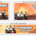 GTA V - Rebrand (Youtube Banner, Logo, Twitch Offline - Templates) + TUTORIAL (how to edit)