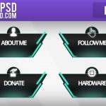 Free Twitch Panels - Futuristic Stream panels - PSD - Free Download