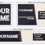 Modern Design (Youtube Banner, Logo, Twitch Offline - Templates) + TUTORIAL (how to edit)