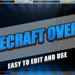 [4 free] **Minecraft Stream Overlay** OBS/Twitch 1080p - Download .psd