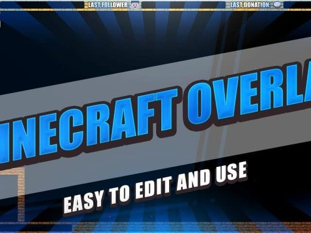 [4 free] **Minecraft Stream Overlay** OBS/Twitch 1080p – Download .psd