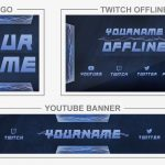 Lightning (Youtube Banner, Logo, Twitch Offline - Templates) + TUTORIAL (how to edit)