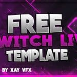 Free GFX: Free Photoshop Video Overlay Template: Twitch, Gaming, Streaming Overlay Design Pack
