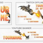 Monster Hunter: World (Youtube Banner, Logo, Twitch Offline – Templates) + TUTORIAL (how to edit)