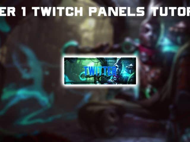 Photoshop : Tyler1 Style Twitch Panels